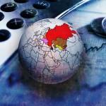 Россия на глобусе